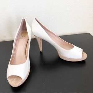 Vince Camuto White High Heel Shoes